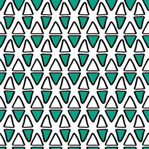 Little Abstract Triangles   White & Blue