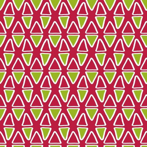 Little Abstract Triangles   Pink & Green