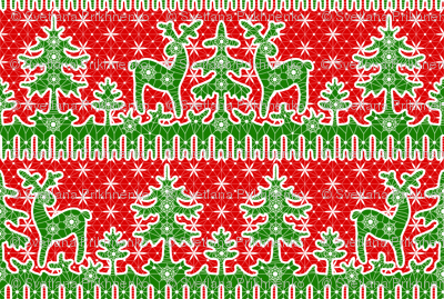 christmas lace with deers