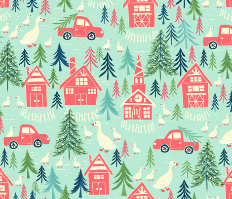 New England Holiday fabric by jill_o_connor on Spoonflower - custom fabric