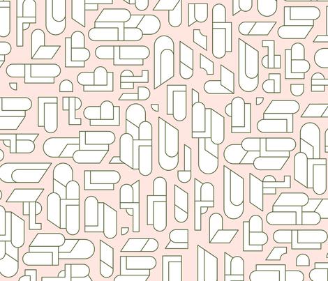 homesquares_girl_stroke fabric by shop_design-box on Spoonflower - custom fabric