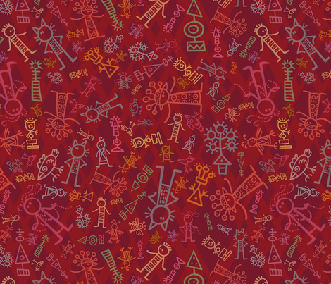 Misfit Holiday L fabric by madinpursuit on Spoonflower - custom fabric