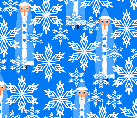 father winter - large scale fabric by glimmericks on Spoonflower - custom fabric