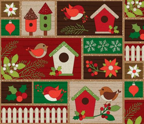 Christmas in Nature fabric by malibu_creative on Spoonflower - custom fabric