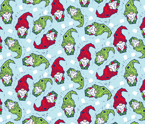 Holiday Gnomes fabric by jacquelinehurd on Spoonflower - custom fabric