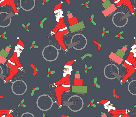 santa-spoonflower fabric by inotra on Spoonflower - custom fabric
