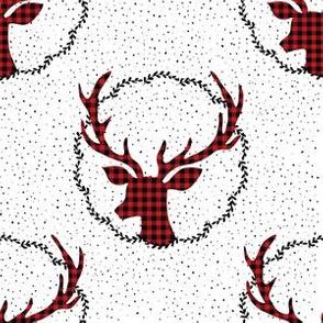 "6"" Plaid Deer Polka Dots"