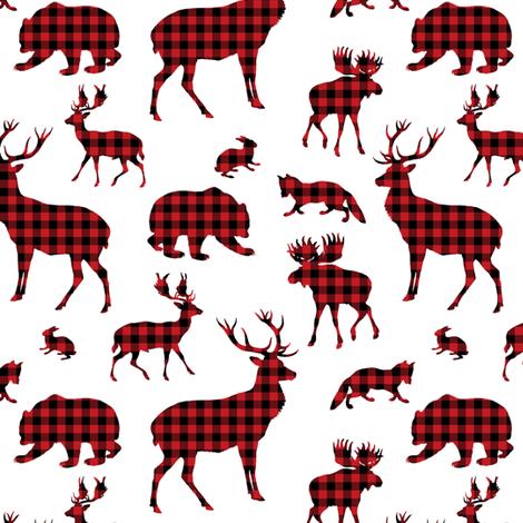 "6"" Winter Wild -Plaid  fabric by shopcabin on Spoonflower - custom fabric"