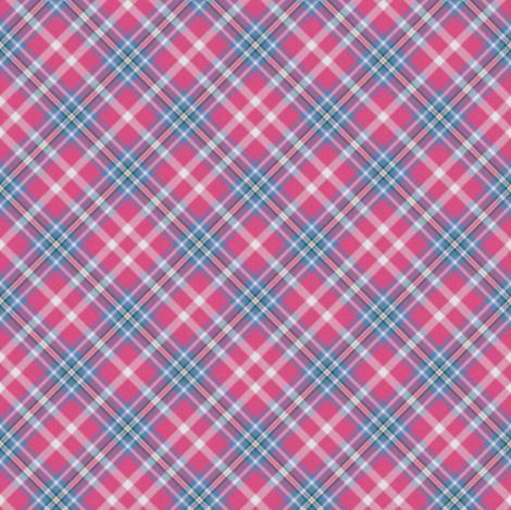 Custom Pink Cornflower Plaid 2 fabric by eclectic_house on Spoonflower - custom fabric
