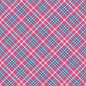Custom Pink Cornflower Plaid 2