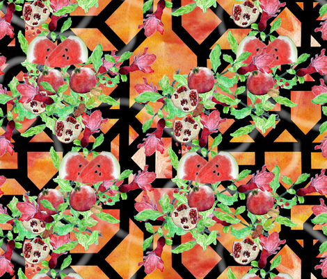 Yalda Holiday Motif (Holidays Around The World) fabric by iadesigns on Spoonflower - custom fabric