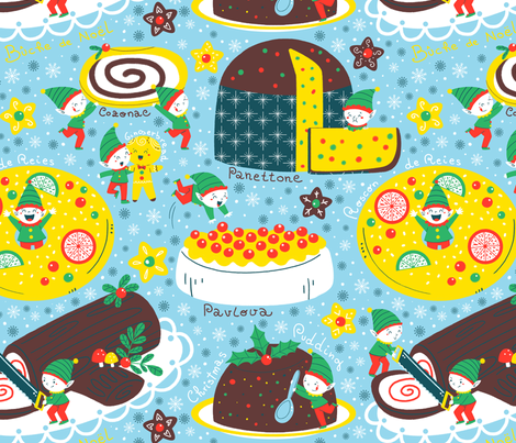 elves cakes fabric by gnoppoletta on Spoonflower - custom fabric