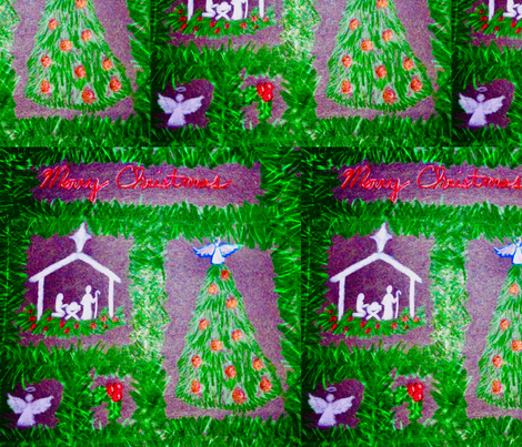 Christmas sq fabric by proverbs31girl on Spoonflower - custom fabric
