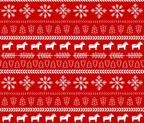 Scandinavian Christmas fabric by thewellingtonboot on Spoonflower - custom fabric