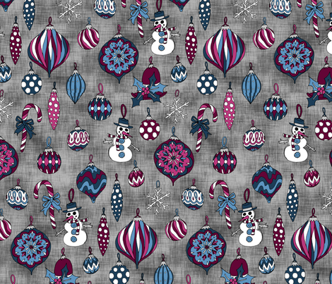 Christmas Ornaments fabric by pond_ripple on Spoonflower - custom fabric