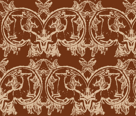 Stags Leap Deer, a Smoky Mountain Christmas fabric by lisakling on Spoonflower - custom fabric