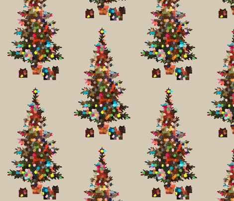 Simply Christmas time fabric by lucybaribeau on Spoonflower - custom fabric