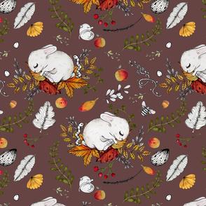 Cute Dreaming Bunnies & Mice