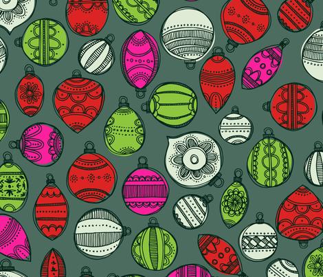 Vintage Holiday Ornaments fabric by tiffanyheiger on Spoonflower - custom fabric