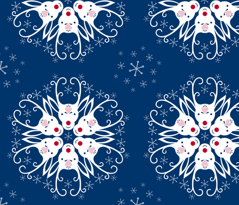 Dashing Snowflakes fabric by marcy_horswill_design on Spoonflower - custom fabric