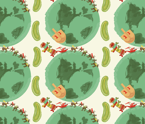 Ho ho holiday!-01 fabric by tracey_wirth_designs on Spoonflower - custom fabric