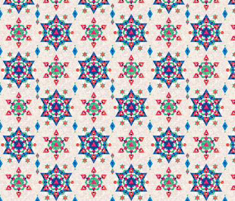 Christmas Stars fabric by lucy_&_me on Spoonflower - custom fabric