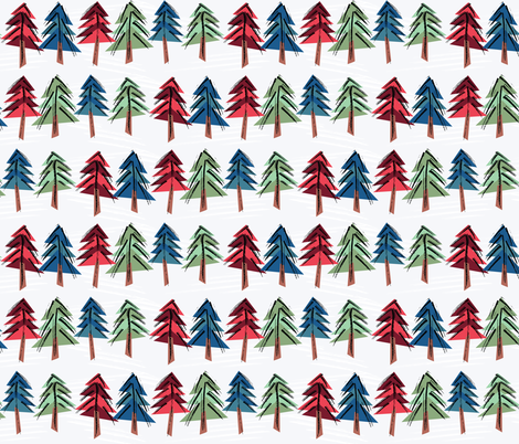 Colorful Conifers fabric by ameemax on Spoonflower - custom fabric