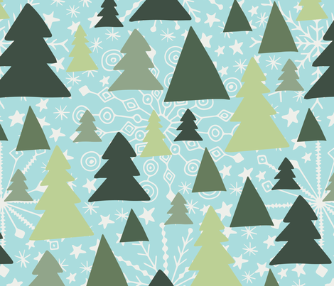 christmas fabric by abbeyrow on Spoonflower - custom fabric