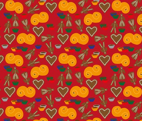 Swedish Christmas fabric by yvonnesgalleri on Spoonflower - custom fabric