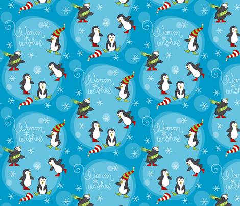 Antarctic Holiday Fun fabric by lily_studio on Spoonflower - custom fabric