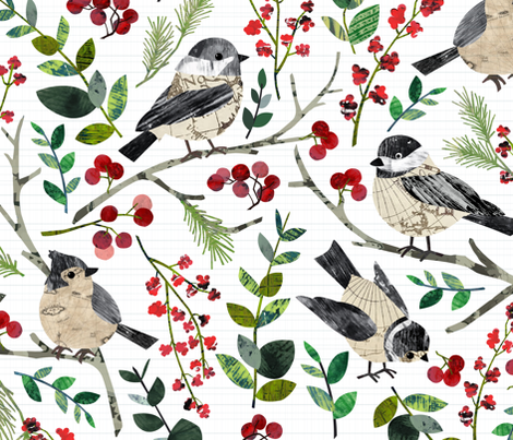 World Map Birds fabric by sarah_treu on Spoonflower - custom fabric