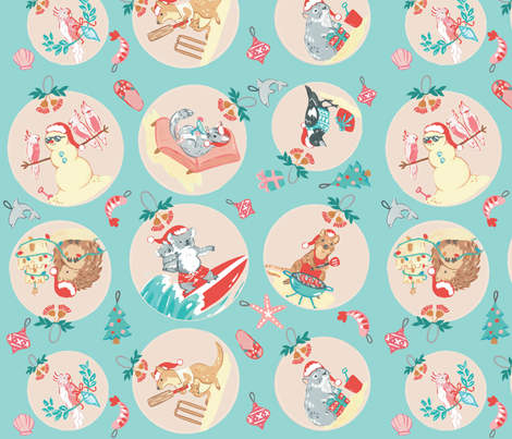 AussieXmas_AlleCRepeat-01-01 fabric by allec on Spoonflower - custom fabric
