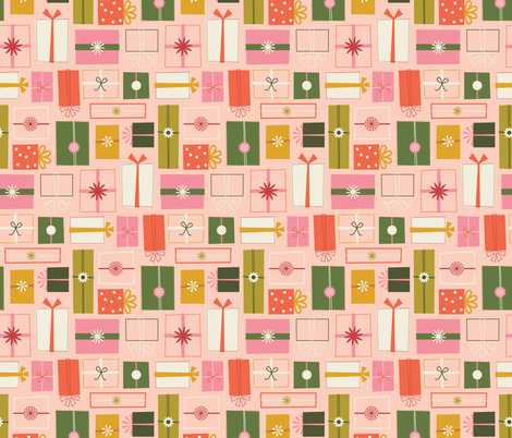 Wrapping Presents fabric by katerhees on Spoonflower - custom fabric