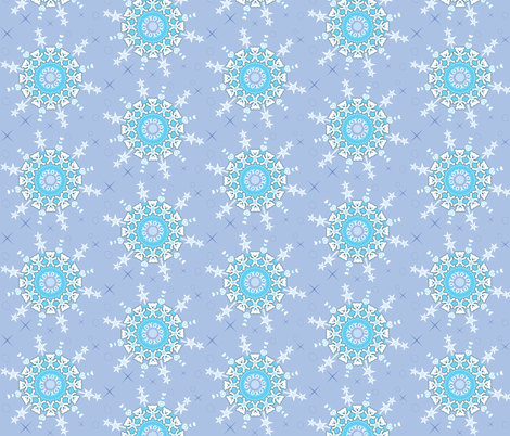 Teddy Bear Snowflakes fabric by prototoyandgiftstudio on Spoonflower - custom fabric