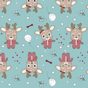 Deers in Yammies blue