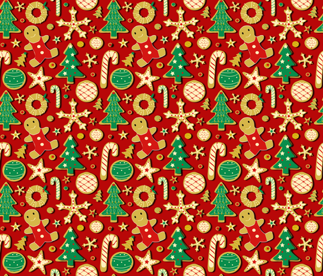 Holiday baking fabric by artypeaches on Spoonflower - custom fabric