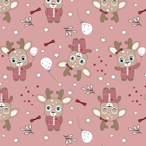 Deers in Yammies on blush