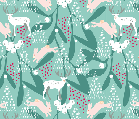 chritmas 2018-01 fabric by marti_betz_design on Spoonflower - custom fabric