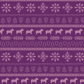 Scandinavian Christmas in Purple