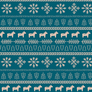 Scandinavian Christmas in Teal