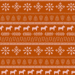Scandinavian Christmas in Orange