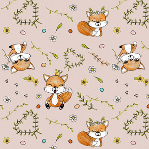 happy foxes 01 greige