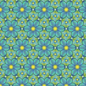 Faux Tie Dye Flower