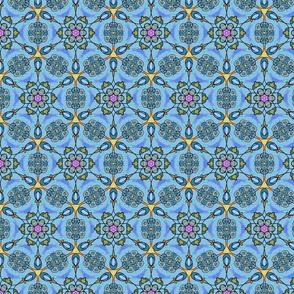 Art Nouveau Blue Floral