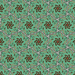Wavy Green Hexagon
