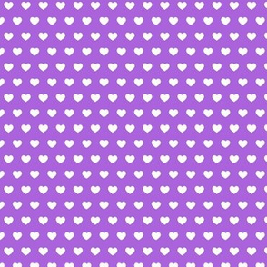 small hearts on light purple