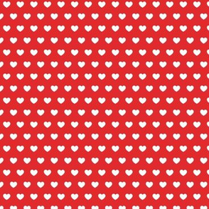 small hearts on red