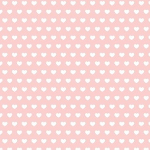 small hearts - pale pink