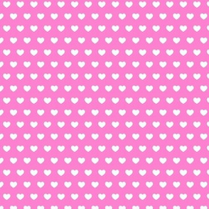 small hearts on pink