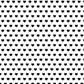 small hearts - black
